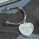 Personalized Heart Horseshoe Key Chain Custom Name Monogram Engraved