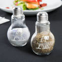 Personalized Initial and Name 4oz Glass Lightbulb Salt and Pepper Shaker Set