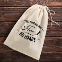 Personalized Natural Cotton Shoe Drawstring Bag