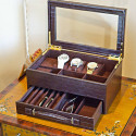 Personalized Multipurpose Display Case for Jewelry, Watches, Pens, and Glasses
