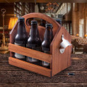 Personalized Solid Wood Beer and Beverage Caddy