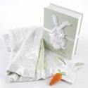 Bunnies in the Garden Luxurious 3 Piece Blanket Gift Set