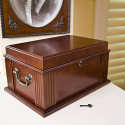 Beautiful And Secure 50 Count Antique Cigar Humidor
