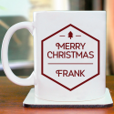Great and Beautiful Merry Christmas Personalized Mug With Name Printed