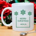 Wonderful Merry Christmas Mug Beautiful Personalized With Name Printed