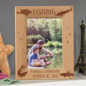 Fishing Personalized Wooden Picture Frame