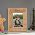 Freshwater Fishing Personalized Wooden Picture Frame
