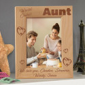 We Love You World's Coolest Aunt Personalized Wooden Picture Frame