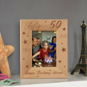 Happy 50th Birthday Personalized Wooden Picture Frame