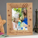 Happy 60th Birthday Personalized Wooden Picture Frame