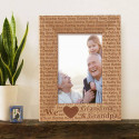We Love Grandma and Grandpa Personalized Wooden Picture Frame