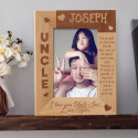 I Love You Uncle Personalized Wooden Picture Frame