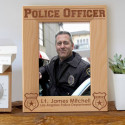Police Officer Personalized Wooden Picture Frame