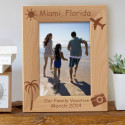 Our Family Vacation Personalized Wooden Picture Frame