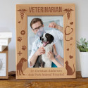 Veterinarian Personalized Wooden Picture Frame