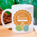 A Very Happy Easter Mug Beautiful Personalized With Name Printed On it