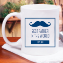 Best Father in the World Personalized Mug With Name Printed On It