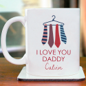 I Love You Daddy Mug Personalized With Name Printed On It