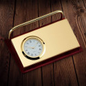 Personalized Card Holder with Clock