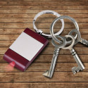 Personalized Wood/Metal Key Chain with Light