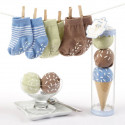 "Blue ""Sweet Feet"" Three Scoops of Socks Gift Set For Baby Boy"
