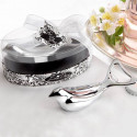 Elegant Chrome Dove Bottle Opener in Decorative Oval Case