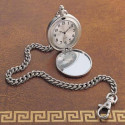 "Personalized 12"" Chained Pocket Watch Custom Name Message Engraved"