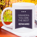 Grandpa You Are the Best Personalized Mug With Name Or Initial Printed
