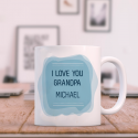 I Love You Grandpa Personalized Mug With Name Or Initial Printed On It