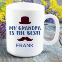 My grandpa is the best! Personalized Name Printed Mug for Grandpas