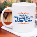 Beautiful Happy Grandparent's Day To My Grand Pa Personalized Mug