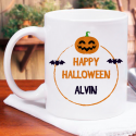 Happy Halloween Personalized Mug With name Printed On It