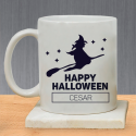 Scary and Thrilling Wicked Witch Halloween Personalized With Name Mug
