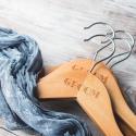 Personalized Engraved Wooden Groom Wedding Hangers