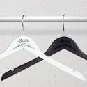 Personalized Engraved Flower Detail Bride Wooden Wedding Hangers