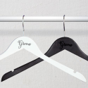 Personalized Engraved Wooden Plain Groom Wedding Hangers