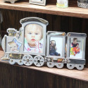 Two Tone Train Photo Frame Engraved Personalized Message Monogram