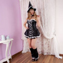 Elegant Witch Vinyl Look Halloween Women Costume