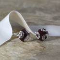 Circular Studded Brown Cufflinks Add Modern Touch To Classical Outfit