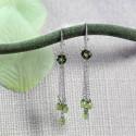 14K Gold Chandelier Earrings Briolette Peridots Lovely Gift For Women