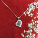 The Etched Sterling Silver Pendant With a Cute Heart Design