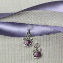 Classic And Elegant Oval Stone Amethyst Earrings Beautiful Gift Item
