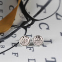 Eye Exam Novelty Cuff Links With a Miniature Eye Exam Chart On It