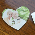 Heart Shaped Personalized Mouse Pad with Custom Image Photo Printed