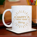 Happy New Year  Beautiful Decorative Personalized New Year's Eve Mug
