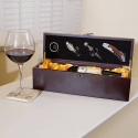Personalized Pampered Grape Deluxe Single Bottle Wine Box Set Great For Wine Lover