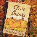 Personalized Give Thanks House Flag