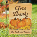 Give Thanks Personalized Garden Flag