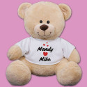 "I Love You Printed 12"" Teddy Bear"