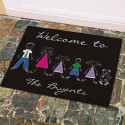 Personalized Stick Family Welcome Doormat